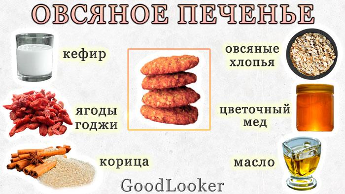 Клубничное овсяное печенье