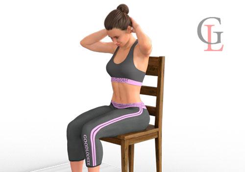 Гимнастика для шеи сидя на стуле: 12 полезных упражнений
