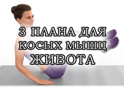 Тренировка на косые мышцы живота